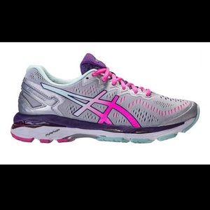 ASICS Gel-Kayano 23 Silver & Pink Running Shoe (8)